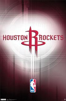 Houston Rockets Official NBA Basketball Team Logo Poster - Costacos Sports Inc.