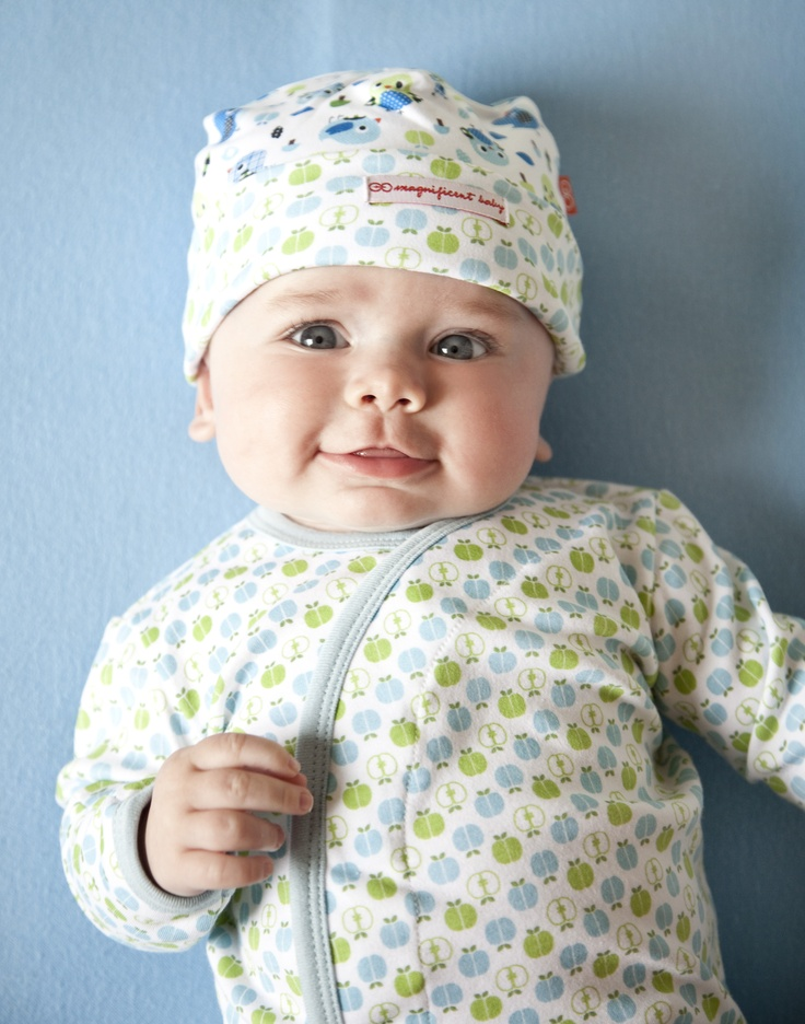 Magnificent Baby gorgeously cute happy apples Gown! Save time and Stress with magnetic closures!