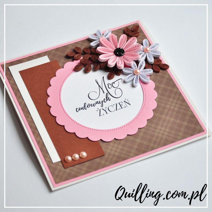quilling, husking, handmade, greeting card, DIY, birthday, paperart, quilling.com.pl