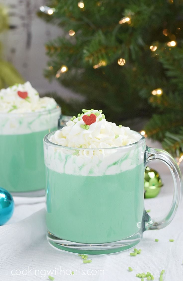 Warm up with a Grinch Hot Chocolate and choose to be Naughty or Nice | cookingwithcurls.com
