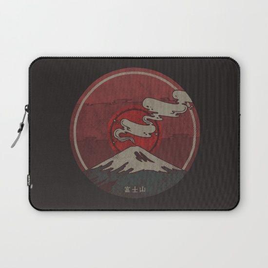 Fujisan Laptop Sleeve by Hector Mansilla | Society6