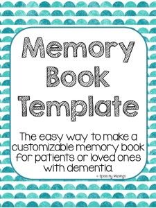Memory Book for Dementia. Repinned by SOS Inc. Resources pinterest.com/sostherapy/.
