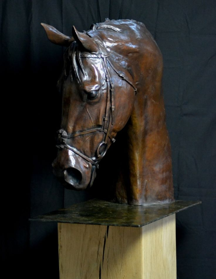 Life size Portrait in bronze of the Great Frankel. Limited edition of nine.
