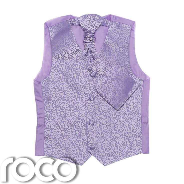 Boys Lilac Waistcoat, boys Cravat, boys Swirl Waistcoat, Page Boy Waistcoats #Unbranded #Waistcoat #Weddingprom