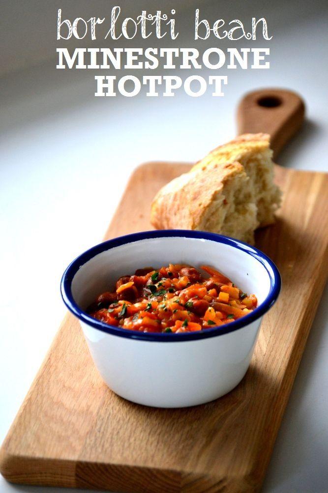 Recipe: Borlotti Bean Minestrone Hotpot #vegetarian #vegan http://www.thevegspace.co.uk/recipe-borlotti-bean-minestrone-hotpot/
