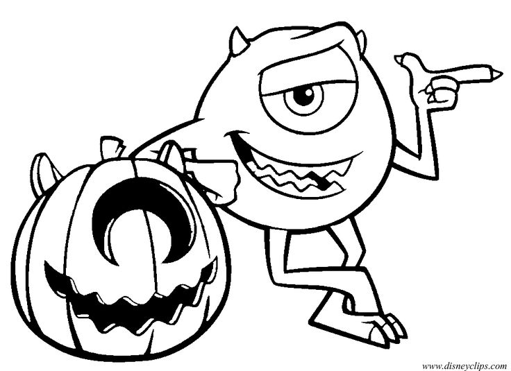 disney halloween monster inc coloring sheet for kids picture 24 42 free printable disney halloween coloring page for kids - Halloween Coloring Pages Kids