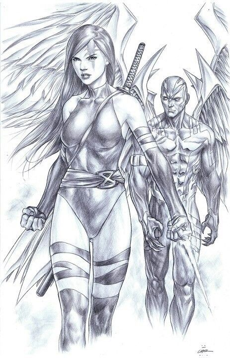 Psylocke and Archangel by Mike Choi