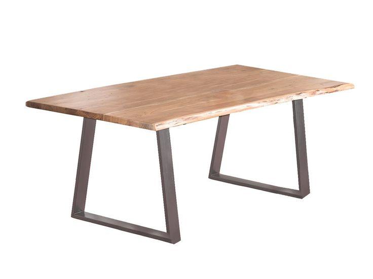 Dimension de la tableLong: 200 cm Hauteur:77 cm Prof:95cm Matière:Accacia massif et pieds métalMeuble à monter Table de repas pieds métal et plateau en acacia massif...