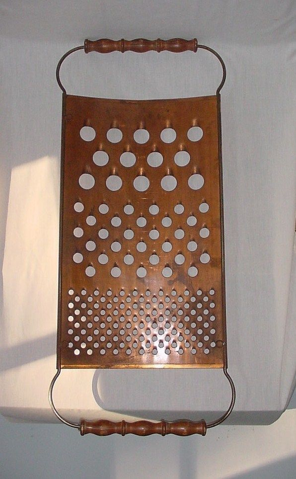 GIGANTIC MID CENTURY MODERN VINTAGE COPPER CHEESE GRATER WALL SCULPTURE C C JERE