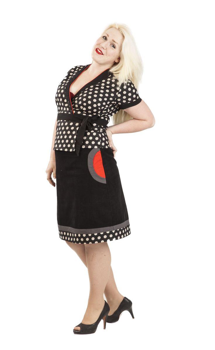 Tuppen topp&skjørt sort/hvitt | Se min kjole