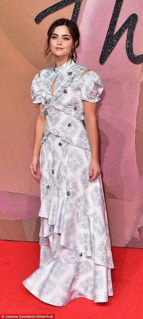 Jenna Coleman looked pretty in Erdem...
