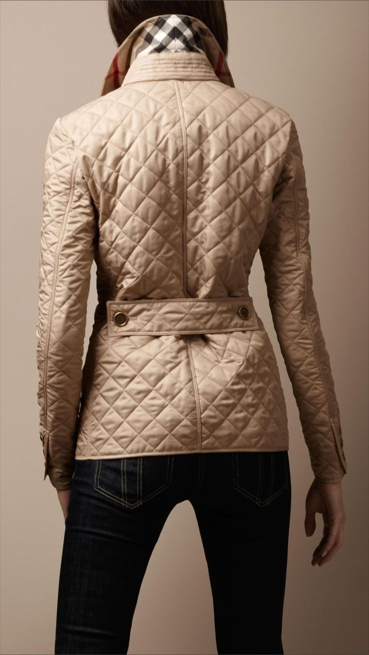 Cinched Waist Quilted Jacket Burberry Gifts In 2019