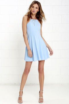 Lulu*s Call to Charms Light Blue Skater Dress Found on my new favorite app Dote Shopping #DoteApp #Shopping