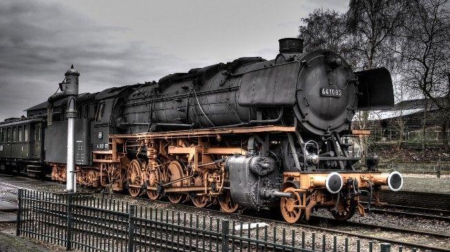 HDR Kömürlü Yük Treni #wallpaper #tren #HDR