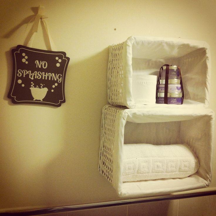 14 best bathroom shelves images on Pinterest   Bathroom, Bathroom ...