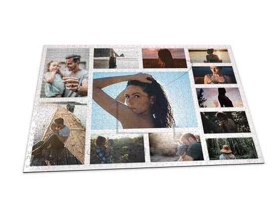 Crea il tuo foto puzzle con 12 riquadri