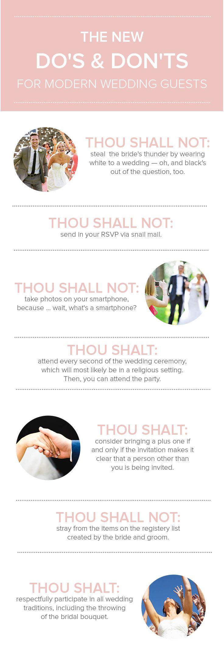 bridal shower invitations registry etiquette%0A   new do u    s and don u    ts for modern weddings  Wedding Guest EtiquetteWedding