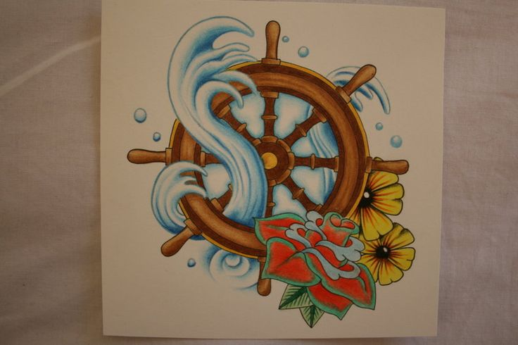 Ship Wheel Tattoo Design by itchysack.deviantart.com on @deviantART