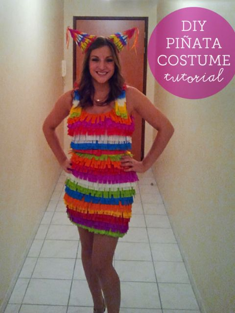 DIY Pinata Costume Tutorial   A Teaspoon of Happiness #halloween #DIY #costume
