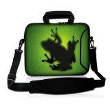 SIDORENKO Notebooktaschen mit Tragegurt + Tragegriff inkl. Zusatzfach für Maus und Ladegerät an der Vorderseite der Tasche- Notebooktasche Designer Sleeve Größe 39,6cm von 15″ bis 15,6″ Zoll Neopren