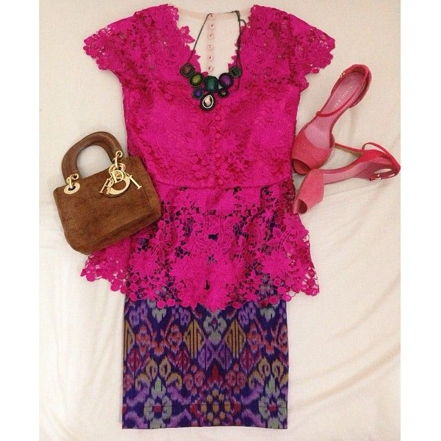 cute little pink kebaya