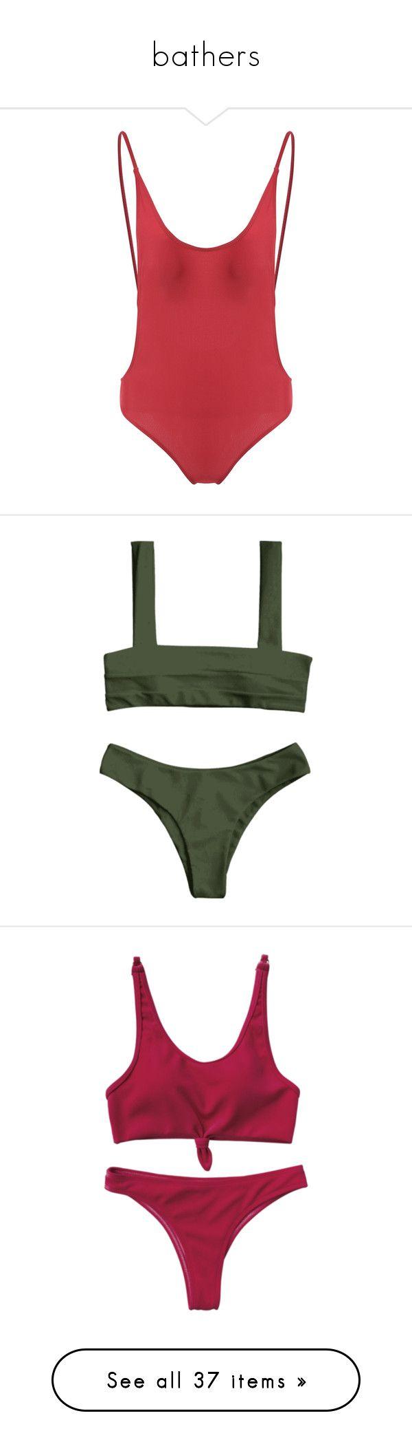 """bathers"" by tulliahfaith ❤ liked on Polyvore featuring swimwear, bikinis, bikini tops, tops, swim, swimsuits, bikini, padded bikinis, swim wear and bikini swimwear"