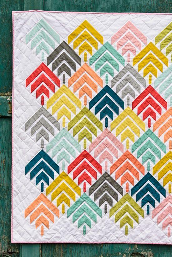 Modern Hand Quilting Patterns : Bijou Lovely: Modern Solids Challenge: Woodcut Quilt. Quilts Pinterest Bijoux, Love this ...