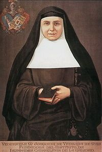 St. Joaquina Vedruna -- raised nine children after her husband's death, then formed an order.