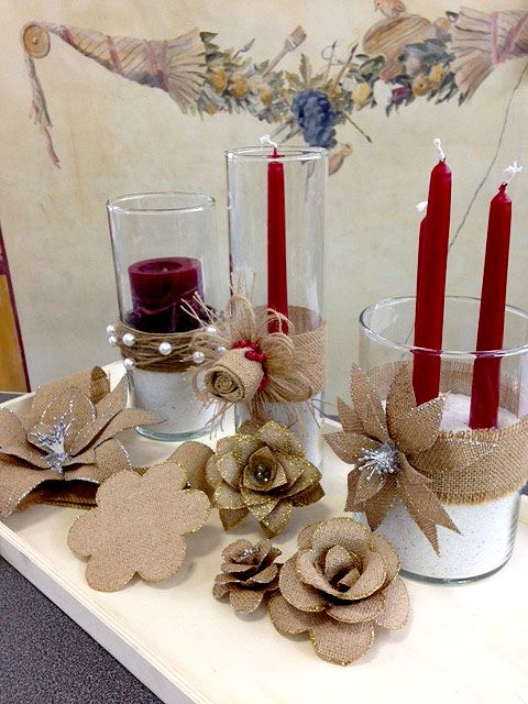 M s de 1000 ideas sobre tapetes de mesa de arpillera en - Manualidades decoracion navidena ...