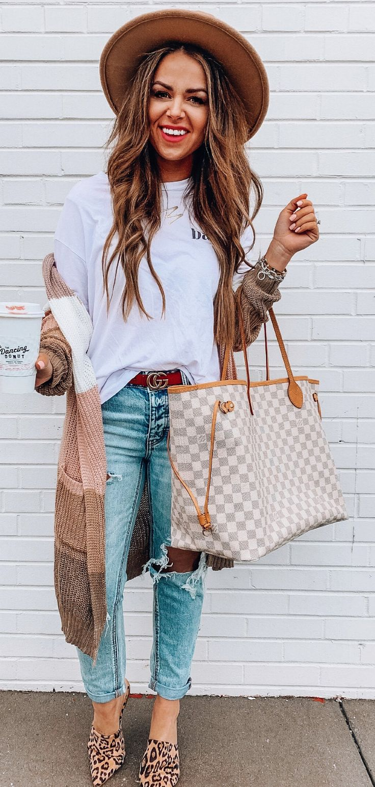 white top #spring #outfits