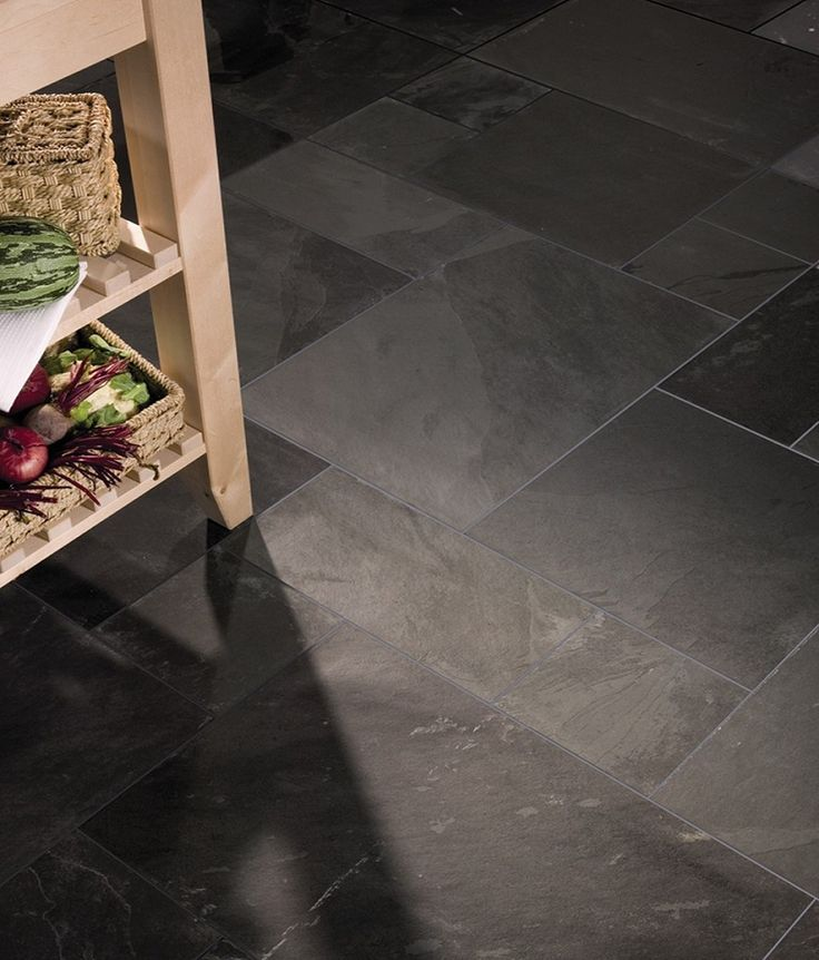 Rustic Black Slate Modular Uncalibrated Tile   Topps Tiles
