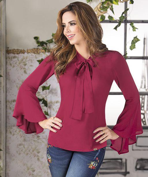 0babe8953d09 Resultado de imagen para modelos de camisas para dama | Blusa manga ...