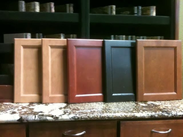 Cabinet Stain Colors Left To Right Dawn Mirage Cinnamon