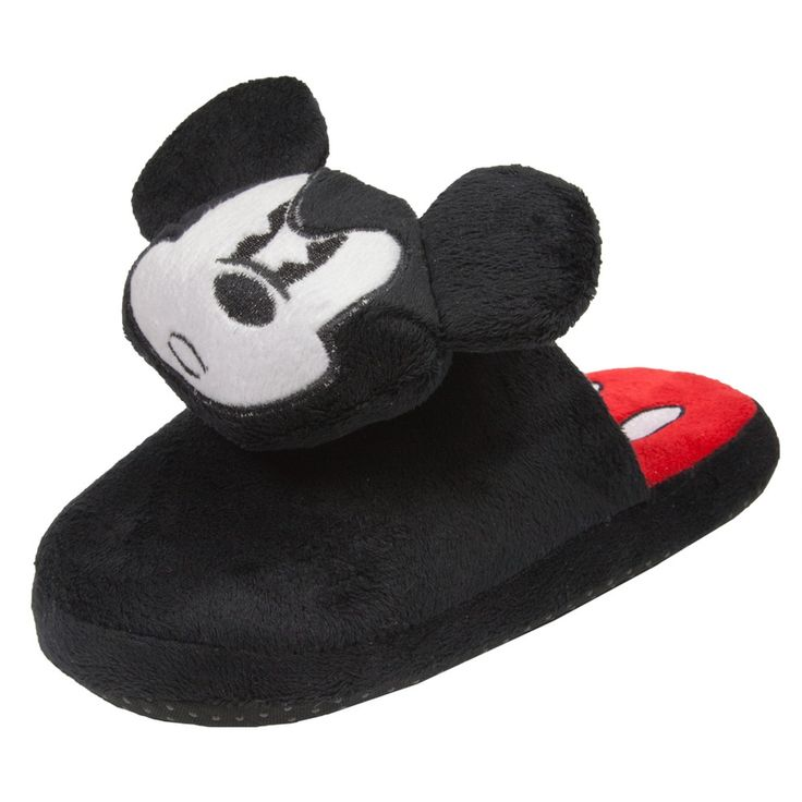 Mickey Mouse - Angry Face Plush Juniors Slippers