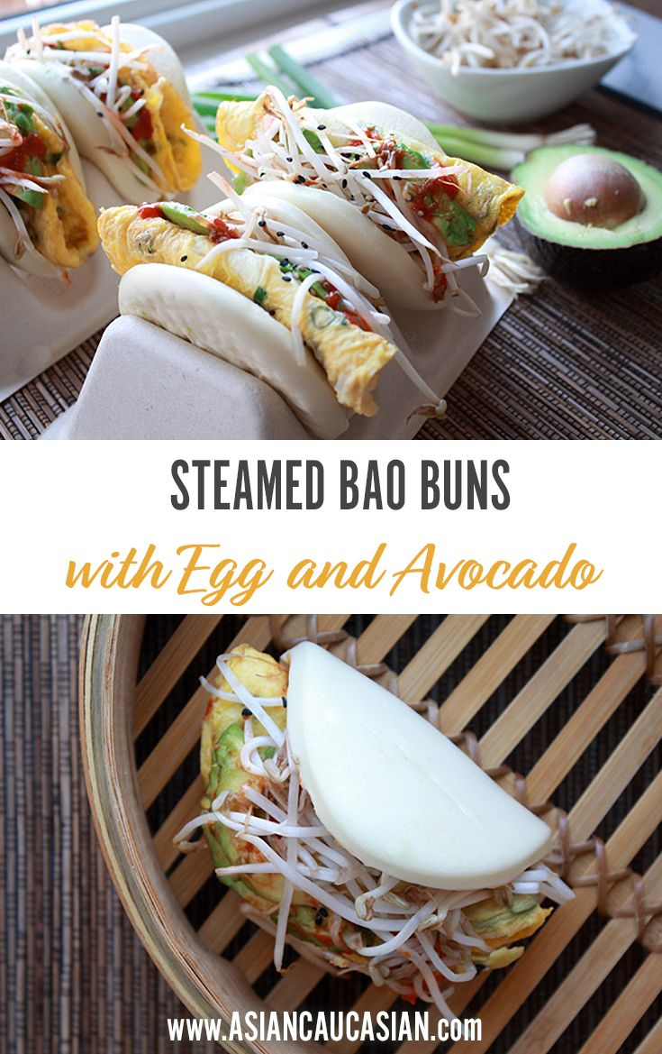 Steamed Bao Buns with Egg and Avocado