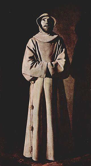 François d'Assise par Francisco de Zurbarán, musée des beaux-arts de Lyon, France.