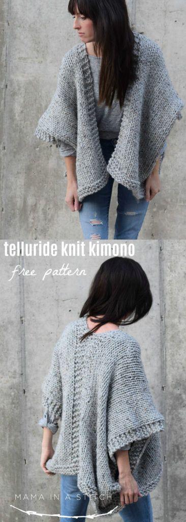 Padrão de quimono de malha fácil de Telluride