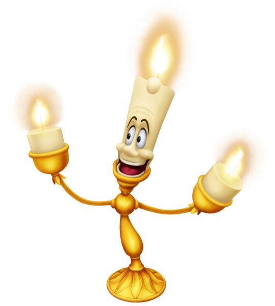 Lumiere Beauty and the Beast Cartoon Transparent Image