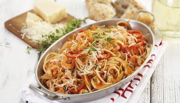 Spaghetti med reker og fennikel - Godfisk