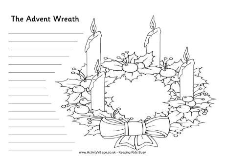 Advent wreath writing activity - haven't figured out what I want them to write - but it's there as a bonus if we finish making wreaths too quickly!: Gift, Activities For Kids, Kids School