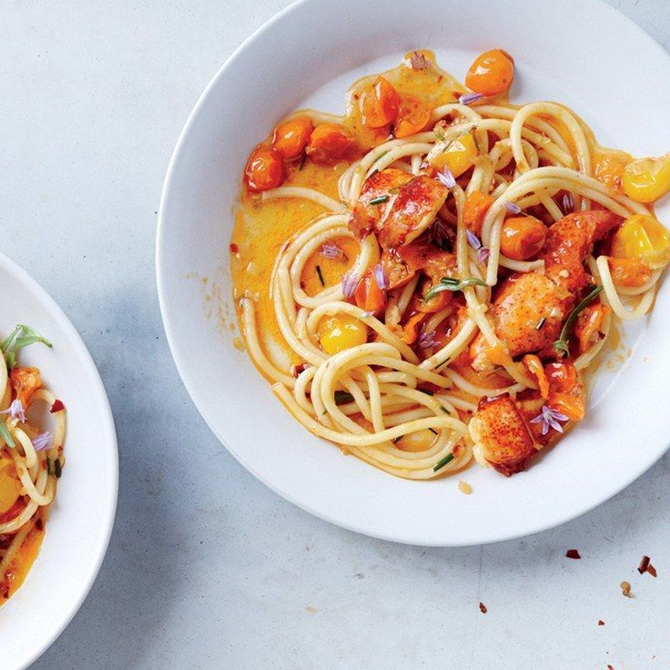 Spicy Lobster Pasta. Made with canned Italian yellowtail tuna in olive oil. Superb. via epicurious
