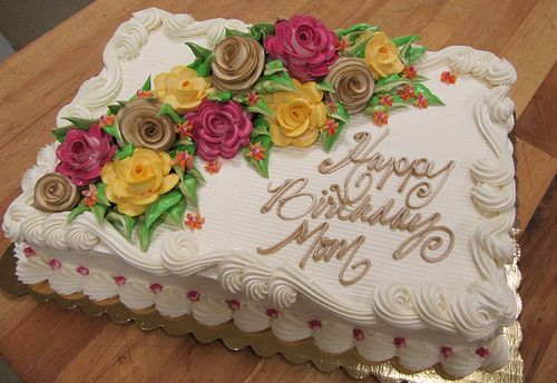birthday sheet cake with flowers - Google Search