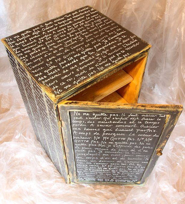 Write on painted wooden furniture, and seal it; could copy storybook, poetry, love letters...love this idea!