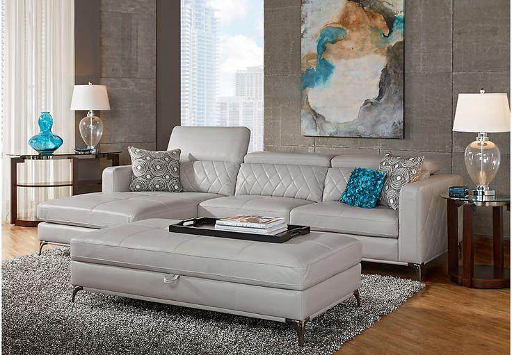 Sofia Vergara Sorrento Platinum 2 Pc Sectional -Living Room Sets (Beige)