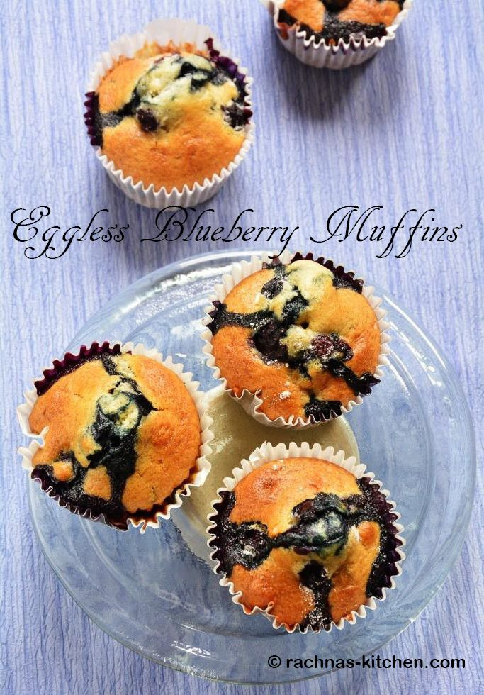 Eggless blueberry muffins are moist, fluffy and packed with goodness of blueberries. These muffins are perfect morning breakfast muffins. Watch video on blog!!