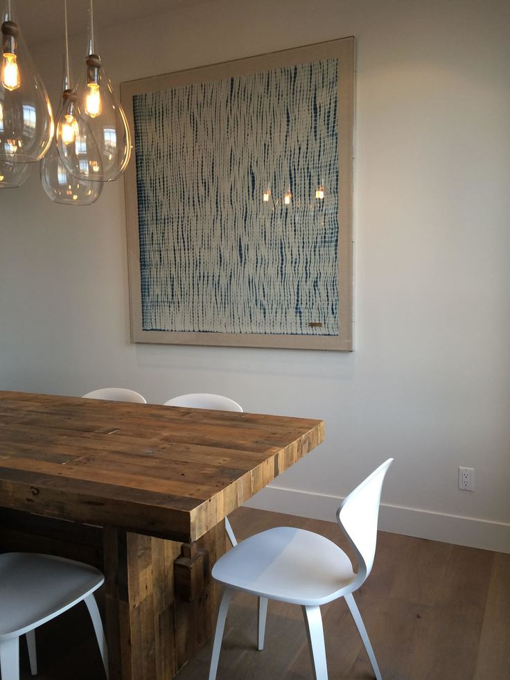 Stunning Dining Room With Custom Pendulums By Mas Design Oakland CA