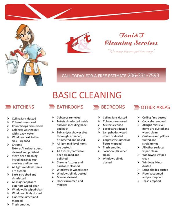 Flyer For A Cleaning Services Company By Mariya Krusheva Via