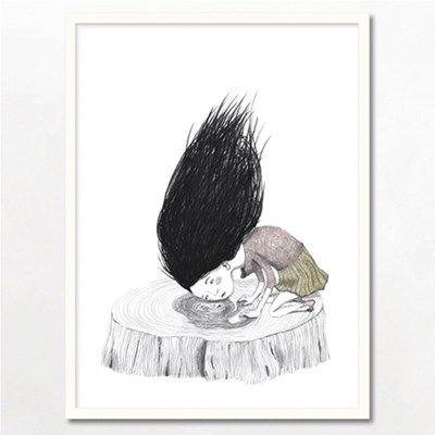 Bob Noon Tree Stump Illustration.