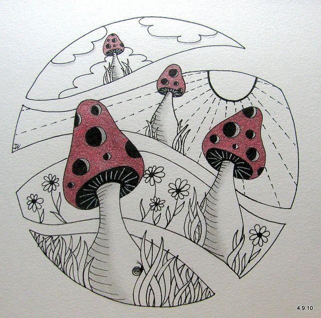 zentangle mushrooms   mushrooms   Zentangle Mushrooms
