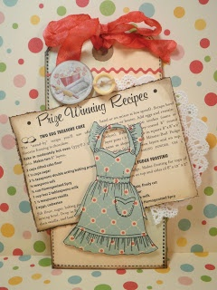 The Basics of Distress Ink - love this vintage look. This would be a great tag to use in a recipe book.